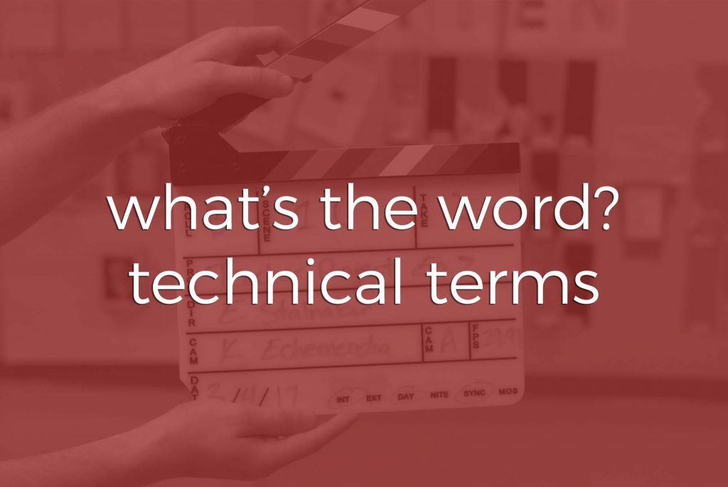 What's the Word? | Technical Terms | Two Stories Media