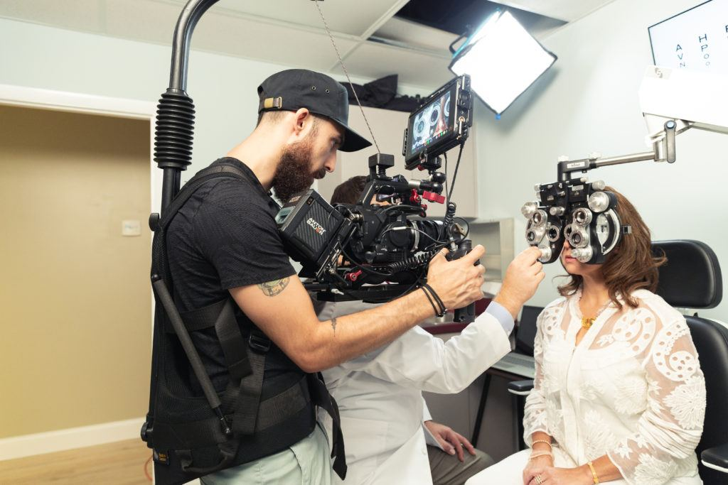Behind-the-scenes of our medical commercial videography production with Advanced Cataract & Glaucoma Care.