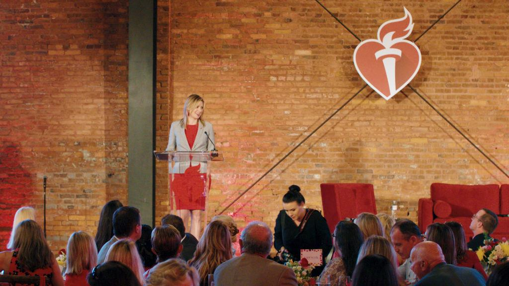 American Heart Association Go Red for Women luncheon keynote speaker at Armature Works.