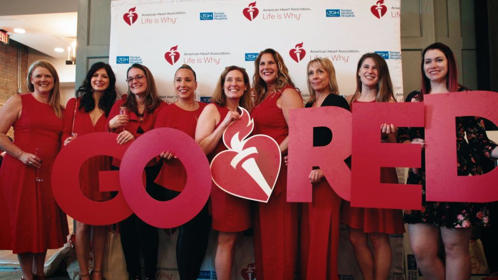 American Heart Association Go Red! for Women luncheon storyline is brought into the editing process.